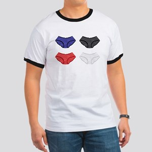 Coloured Satin Knickers T-Shirt