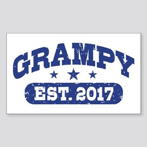 Grampy Est. 2017 Sticker (Rectangle)