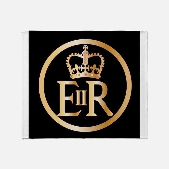 Elizabeth's Reign Emblem Throw Blanket