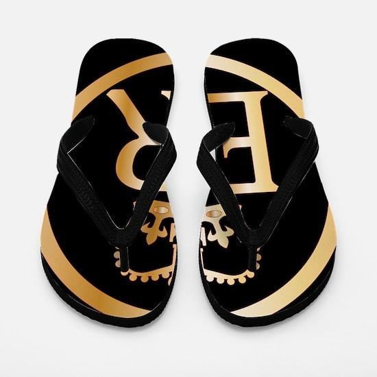 Elizabeth's Reign Emblem Flip Flops