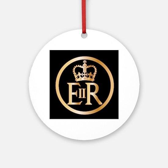 Elizabeth's Reign Emblem Round Ornament