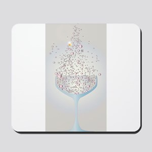 Glass Of Pink Bubbles Mousepad