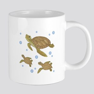 Sea Turtle Family Mugs