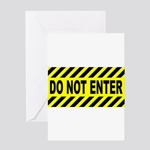 Yellow And Black Do Not Enter Sign Greeting Cards