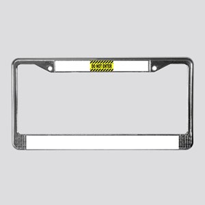 Yellow And Black Do Not Enter License Plate Frame