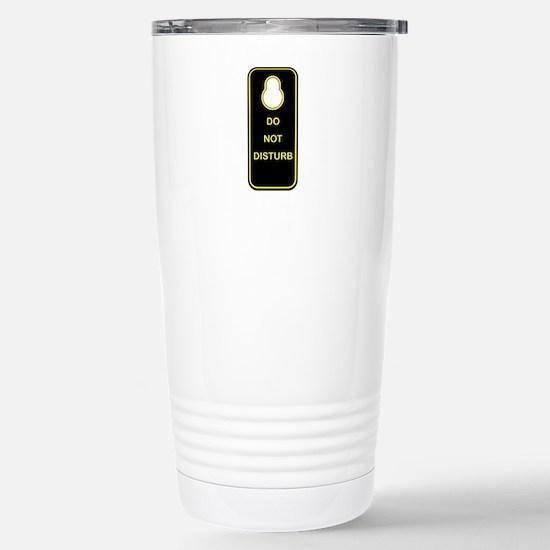 Door Knob Sign Stainless Steel Travel Mug