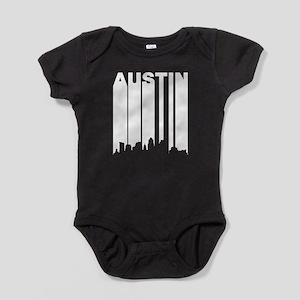 Retro Austin Cityscape Baby Bodysuit
