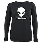 I Believe in Aliens Plus Size Long Sleeve Tee