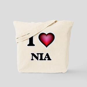 I Love Nia Tote Bag