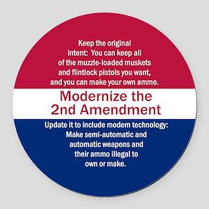 Modernize 2nd Amendment Round Car Magnet
