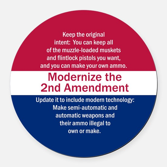 Modernize 2nd Amendment Round Car Magnet