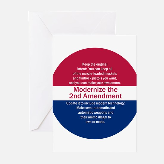 Modernize 2nd Amendment Greeting Cards