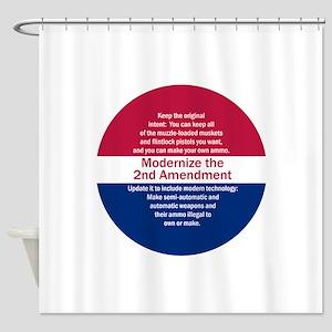 Modernize 2nd Amendment Shower Curtain