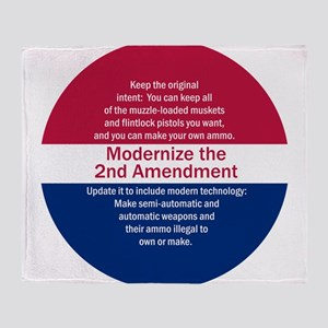 Modernize 2nd Amendment Throw Blanket