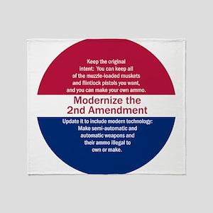 Modernize 2nd Amendment Throw Blanket