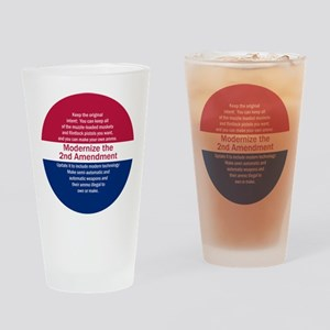 Modernize 2nd Amendment Drinking Glass