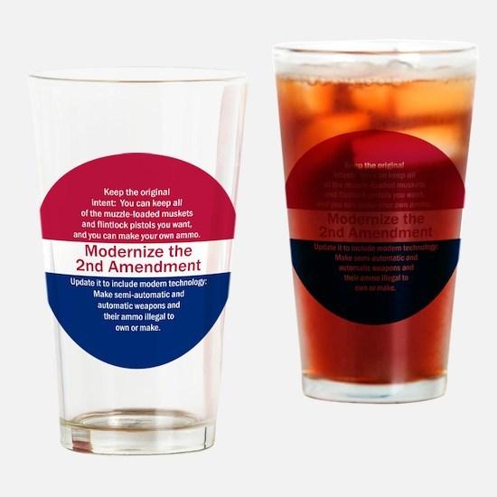 Modernize 2nd Amendment Drinking Glass