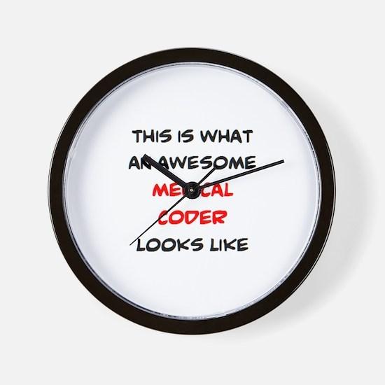 awesome medical coder Wall Clock