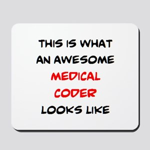 awesome medical coder Mousepad