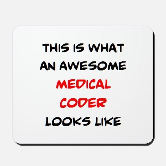 awesome medical coder Mousepad