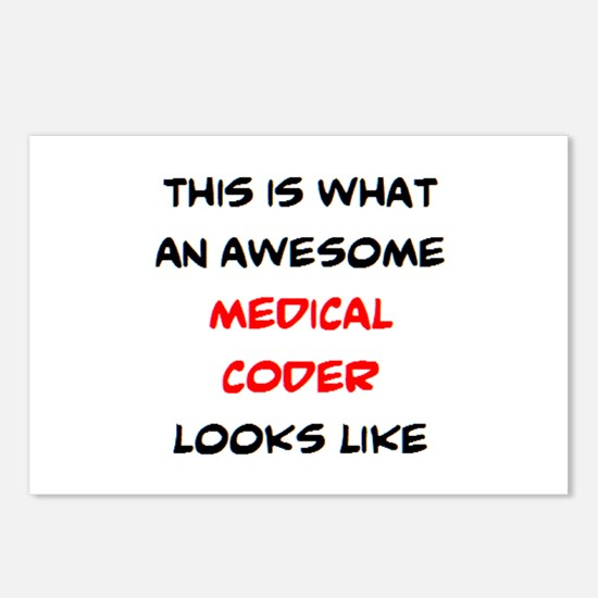 awesome medical coder Postcards (Package of 8)
