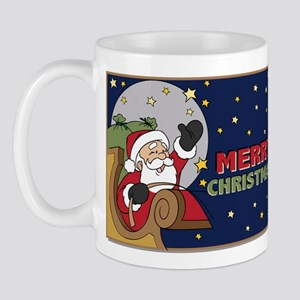 Santa Claus Sleigh Christmas Mug