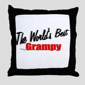 """The World's Best Grampy"" Throw Pillow"