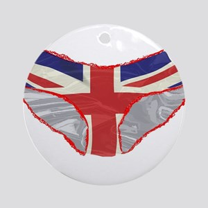 Union Jack Knickers Round Ornament