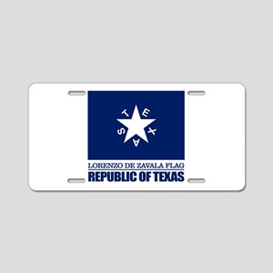 Zavala Flag Aluminum License Plate