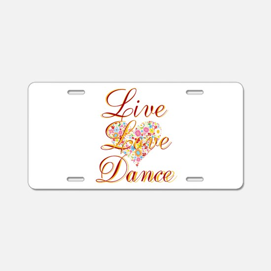 Live Love Personalize Aluminum License Plate
