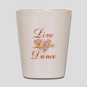 Live Love Personalize Shot Glass