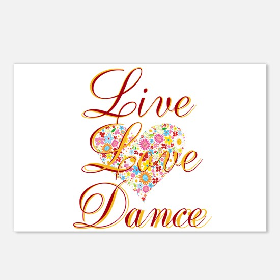 Live Love Personalize Postcards (Package of 8)