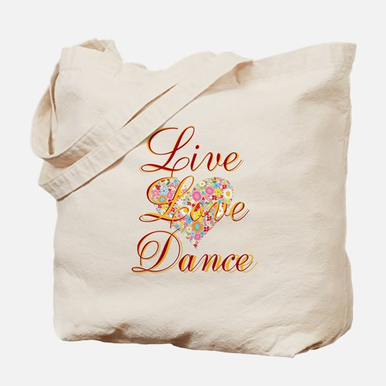 Live Love Personalize Tote Bag