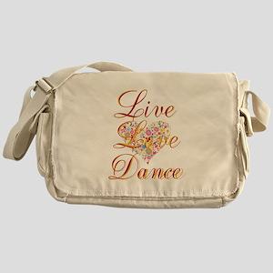 Live Love Personalize Messenger Bag