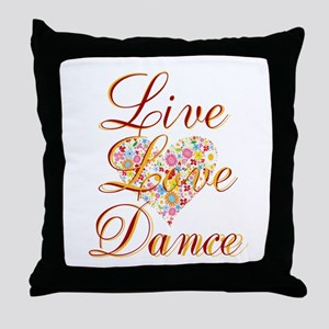 Live Love Personalize Throw Pillow