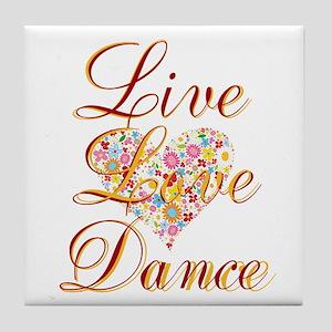 Live Love Personalize Tile Coaster