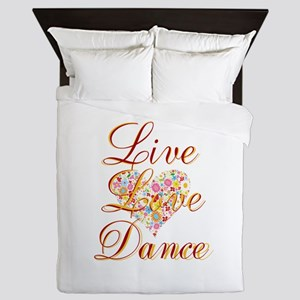 Live Love Personalize Queen Duvet