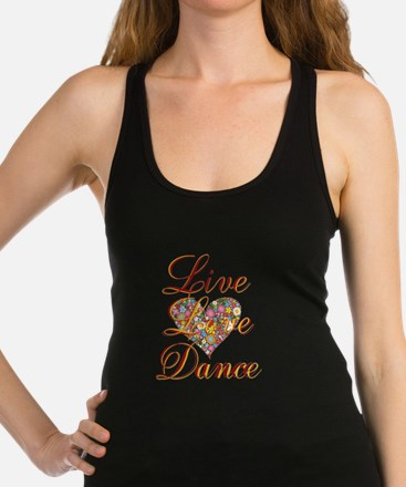 Live Love Personalize Racerback Tank Top