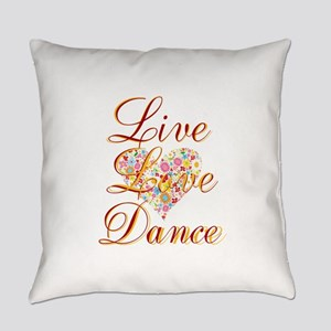 Live Love Personalize Everyday Pillow