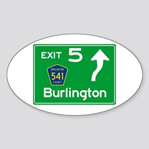 NJTP Logo-free Exit 5 Burlington Sticker