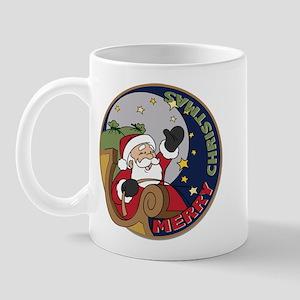 Santa Claus Christmas Round Mug