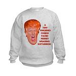 Cheese Faced Trump Kids Sweatshirt