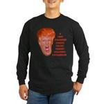 Cheese Faced Trump Long Sleeve Dark T-Shirt