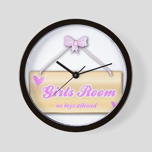 Girls Room Sign Wall Clock