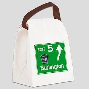 NJTP Logo-free Exit 5 Burlington Canvas Lunch Bag