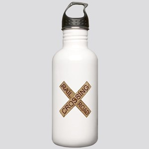 Rail Crossing Wooden S Stainless Water Bottle 1.0L