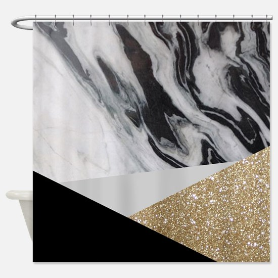 Unique Black and white Shower Curtain