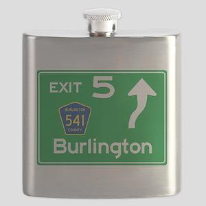 NJTP Logo-free Exit 5 Burlington Flask