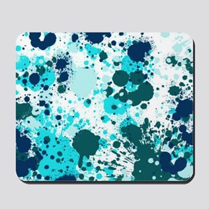 Blue splatters Mousepad