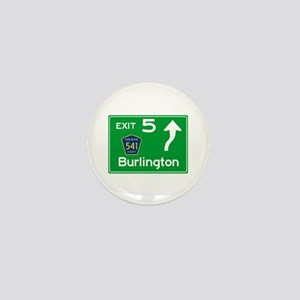 NJTP Logo-free Exit 5 Burlington Mini Button